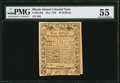 Colonial Notes:Rhode Island, Rhode Island May 1786 40s PMG About Uncirculated 55.. ...