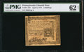 Colonial Notes:Pennsylvania, Pennsylvania April 3, 1772 2s PMG Uncirculated 62 Net.. ...
