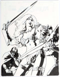 Original Comic Art:Covers, Gene Ha Red Sonja #18 Cover Original Art Group of 2(Dynamite Entertainment, 2007).... (Total: 2 Original Art)