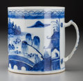 Asian:Chinese, A Chinese Blue and White Porcelain Mug, Qing Dynasty. 4-5/8 incheshigh x 4-1/8 inches diameter (11.7 x 10.5 cm). PROVENAN...