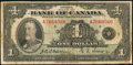Canadian Currency: , Canada BC-1 $1 1935. ...