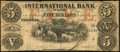 Canadian Currency: , Toronto, CW - International Bank of Canada $5 Sep. 15, 1858 Ch. #380-10-10-16. ...