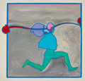 Fine Art - Painting, American:Contemporary   (1950 to present)  , Peter Max (American, b. 1937). Zoople Runner, 1972. Acrylicon canvas. 24 x 25 inches (61 x 63.5 cm). Signed, dated, and...