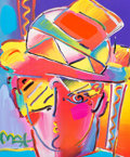 Fine Art - Painting, American:Contemporary   (1950 to present)  , Peter Max (American, b. 1937). Zero Prizm. Color lithographwith mixed media and acrylic painting on paper. 27-1/2 x 21-...