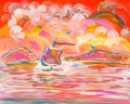Fine Art - Painting, American:Contemporary   (1950 to present)  , Peter Max (American, b. 1937). Sailboat series, 1998.Acrylic on canvas. 16 x 20 inches (40.6 x 50.8 cm). Signed upperr...