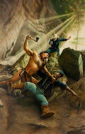 "Original Comic Art:Covers, Keith Birdsong Arrow and Saber #3 ""Battle at Thunderhorse Mesa"" Paperback Novel Cover Painting Original Art (Dell ..."