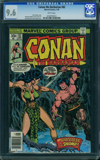 Conan the Barbarian #82 (Marvel, 1978) CGC NM+ 9.6 White pages