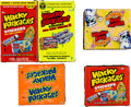 """Memorabilia:Miscellaneous, Wacky Packages """"All New Series"""" (ANS1, ANS2, ANS3) and """"Flashback Series"""" (I & II) Factory Sealed Boxes and Loose Card..."""