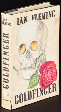 """Goldfinger by Ian Fleming (Macmillan, 1959). First Edition U.S. Hardcover Book (318 Pages, 5.25"""" X 7.75). James Bon..."""