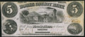 Obsoletes By State:Indiana, Lebanon, IN- Boone County Bank $5 Oct.1, 1860. ...