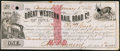 Obsoletes By State:Iowa, Camanche, IA- Great Western Rail Road Co. $1 Jan. 1, 1858. ...