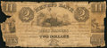 Canadian Currency: , La Prairie, LC- Henry's Bank at Montreal Branch $2 June 27, 1837Ch. # 357-12-04. ...