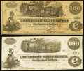 Confederate Notes:1862 Issues, T39 and T40 $100 1862.. ... (Total: 2 notes)