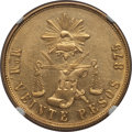 Mexico, Mexico: Republic gold 20 Pesos 1904 Mo-M MS61 NGC,...