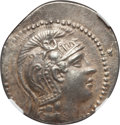 Ancients:Greek, Ancients: ATTICA. Athens. Ca. 165-42 BC. AR tetradrachm (16.84 gm).NGC Choice XF 4/5 - 5/5....