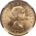 Great Britain, Great Britain: Elizabeth II gold Sovereign 1959 MS67 NGC,...