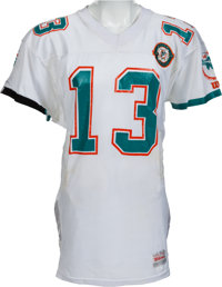 1990 Dan Marino Game Worn Miami Dolphins Jersey, MEARS A10 - Photo Matched!