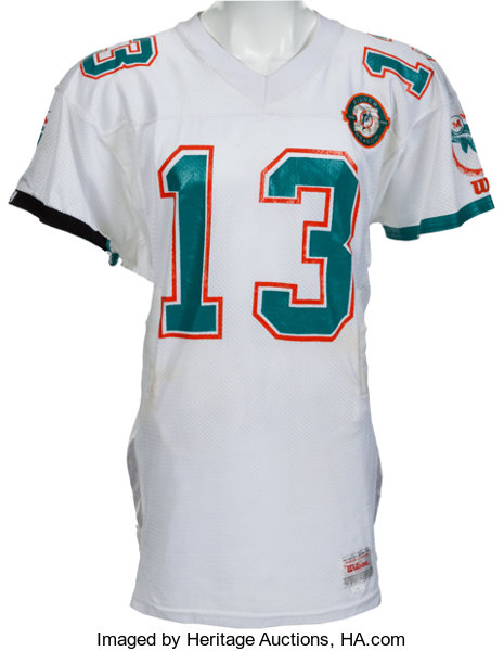 detailed look 4f553 fd1a4 1990 Dan Marino Game Worn Miami Dolphins Jersey, MEARS A10 ...