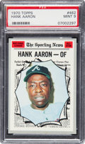 Baseball Cards:Singles (1970-Now), 1970 Topps Hank Aaron All Star #462 PSA Mint 9....