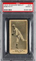 Baseball Cards:Singles (Pre-1930), 1916 D350 Standard Biscuit Babe Ruth Rookie #151 PSA Good 2....