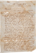 Autographs:Statesmen, Sam Houston Letter Press Copy of an Autograph Letter Signed to President-elect Franklin Pierce. ...