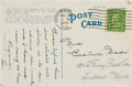 Baseball Collectibles:Others, 1930 Lou Gehrig Handwritten & Signed Postcard from The Beatrice Wade Collection. ...