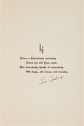 Baseball Collectibles:Others, 1930 Lou Gehrig Signed Christmas Card from The Beatrice WadeCollection....