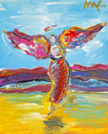 Fine Art - Painting, American:Contemporary   (1950 to present)  , Peter Max (American, b. 1937). Ascending Angel, circa 1990.Acrylic on canvas. 19-1/2 x 15-1/2 inches (49.5 x 39.4 cm) (...