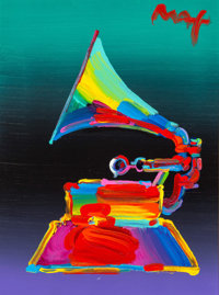 Peter Max (American, b. 1937) Grammy 1989, Ver. I #20, 2011 Acrylic on canvas 16 x 12 inches (40