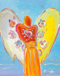 Fine Art - Painting, American:Contemporary   (1950 to present)  , Peter Max (American, b. 1937). Angel with Heart, circa 1995.Acrylic on canvas. 20 x 15-3/4 inches (50.8 x 40 cm) (sight...