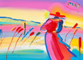 Fine Art - Painting, American:Contemporary   (1950 to present)  , Peter Max (American, b. 1937). Walking in Reeds, 2005. Colorlithograph with mixed media and acrylic painting on paper w...