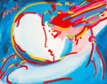 Fine Art - Painting, American:Contemporary   (1950 to present)  , Peter Max (American, b. 1937). Peace by the Year. Colorlithograph with mixed media and acrylic painting on paper. 22 x ...
