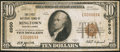 National Bank Notes:Pennsylvania, Ringtown, PA - $10 1929 Ty. 1 The First NB Ch. # 6950. ...
