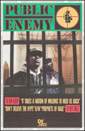 """Movie Posters:Rock and Roll, Public Enemy: It Takes a Nation of Millions to Hold Us Back (Def Jam Recordings, 1988). Album Posters (10) Identical (30"""" X ... (Total: 10 Items)"""