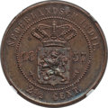 Netherlands East Indies, Netherlands East Indies: Willem III 2-1/2 Cents 1857 MS64 BrownNGC,...