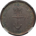 British West Indies, British West Indies: British Colony. George IV 1/4 Dollar 1822 AU58NGC,...