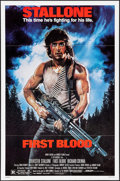 "Movie Posters:Action, First Blood & Other Lot (Orion, 1982). One Sheet (27"" X 41"")& Mini Lobby Card Set of 8 (8"" X 10""). Action.. ... (Total: 9Items)"