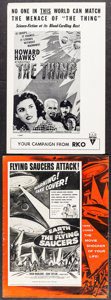 "Movie Posters:Science Fiction, Earth vs. the Flying Saucers & Other Lot (Columbia, 1956).Uncut Pressbooks (2) (Multiple Pages, 12"" X 16"" & 11"" X 17"" ).Sc... (Total: 2 Items)"
