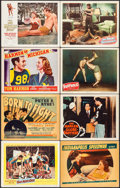 """Movie Posters:Sports, Go, Man, Go & Others Lot (United Artists, 1954). Lobby Cards (22), Linen Finish Lobby Card, & Title Lobby Card (11"""" X 14""""). ... (Total: 24 Items)"""