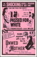 """Movie Posters:Exploitation, I Passed for White/Unwed Mother Combo & Others Lot (AlliedArtists, R-1965). One Sheets (3) (27"""" X 41""""). Exploitation.. ...(Total: 3 Items)"""