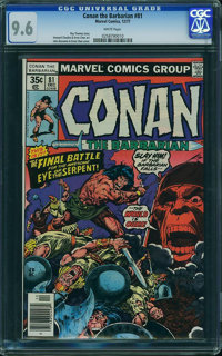 Conan the Barbarian #81 (Marvel, 1977) CGC NM+ 9.6 White pages