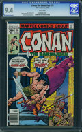 Bronze Age (1970-1979):Miscellaneous, Conan the Barbarian #76 (Marvel, 1977) CGC NM 9.4 White pages.