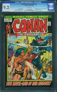 Conan the Barbarian #17 (Marvel, 1972) CGC NM- 9.2 White pages