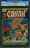Bronze Age (1970-1979):Superhero, Conan the Barbarian #15 (Marvel, 1972) CGC NM 9.4 Off-white to white pages.