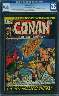 Conan the Barbarian #15 (Marvel, 1972) CGC NM 9.4 Off-white to white pages
