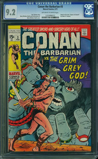 Conan the Barbarian #3 (Marvel, 1971) CGC NM- 9.2 Off-white to white pages