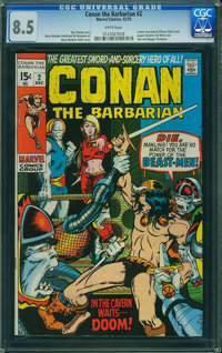Conan the Barbarian #2 (Marvel, 1970) CGC VF+ 8.5 White pages