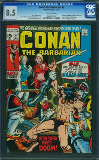 Conan the Barbarian #2 (Marvel, 1970) CGC VF+ 8.5 Off-white pages