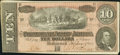 Confederate Notes:1864 Issues, T68 $10 1864 PF-55 Cr. UNL.. ...