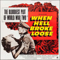 "Movie Posters:War, When Hell Broke Loose & Other Lot (Paramount, 1958). Six Sheet(79"" X 80"") & One Sheet (27"" X 41""). War.. ... (Total: 2 Items)"